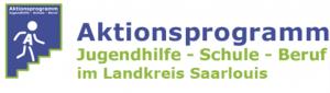 Logo des Aktionsprogramms Jugendhilfe - Schule - Beruf im Landkreis Saarlouis