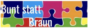 Logo des Bündnisses Bunt statt Braun Saar