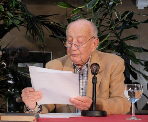 Leslie Schwartz auf seinem Vortrag am Wendalinum in St. Wendel