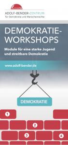 Titelbild Flyer Aktionsprogramm Saarlouis Demokratieworkshops