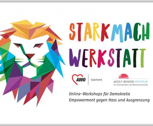 Starkmach Werkstatt Logo mit Logo der AWO und des ABZs